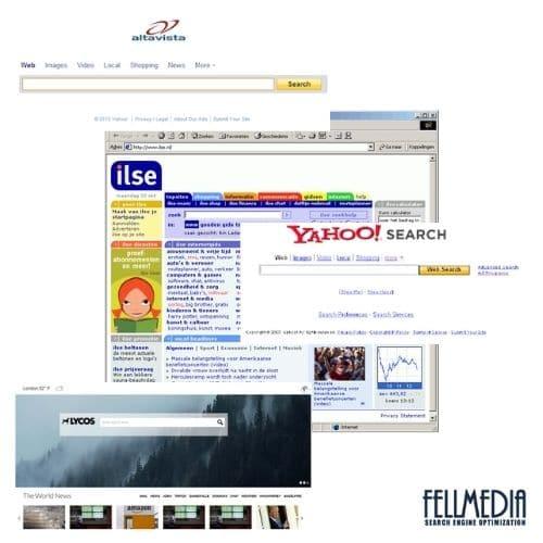zoekmachines uit het verleden